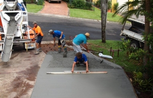 4. Driveway Extension Pour - RBC is a family business in this photo is father, son and cousin