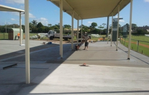 6. Maroochy Afl Spectator Area finishing